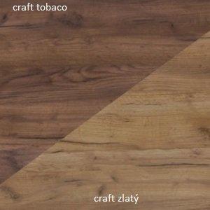 WIP Zrkadlo RIO 10 Farba: Craft tobaco / craft zlatý