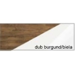 WIP Zrkadlo RIO 10 Farba: dub burgund/biela lesk
