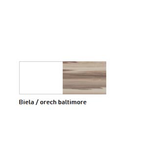 Meblar  Šatníková skriňa MORENA Farba: Biela / orech baltimore