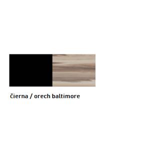 Meblar  Šatníková skriňa MORENA Farba: Čierna / orech baltimore