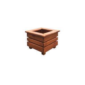 Drewmax Drevený štvorcový kvetináč MO270