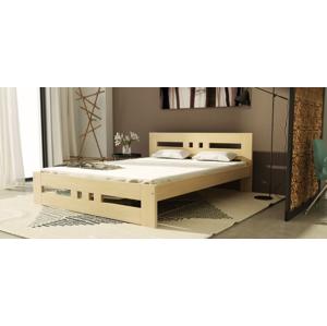 Dolmar Drevená posteľ Roma Farba: dub sonoma, Prevedenie: 160 x 200 cm