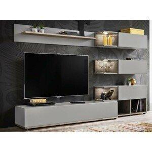 WIP-asm Obývacia stena SILK Farba: šedá perla / ABW Silk 28 DWPG SK