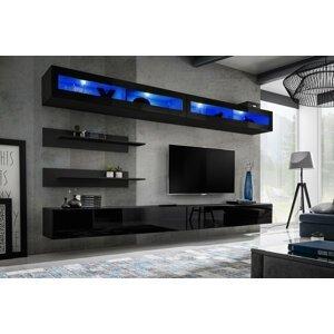 WIP-asm Obývacia stena FLY I / I2 Farba: 23 ZZ FY I2 - čierna / čierny lesk