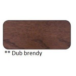 Drewmax Jedálenský stôl Metal ST373 / dub / doska 2,5 cm Farba: Dub brendy, Prevedenie: C 160 x 75 x 90 cm