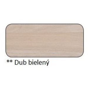 Drewmax Jedálenský stôl Metal ST373 / dub / doska 4 cm Farba: Dub bielený, Prevedenie: B 140 x 75 x 90 cm