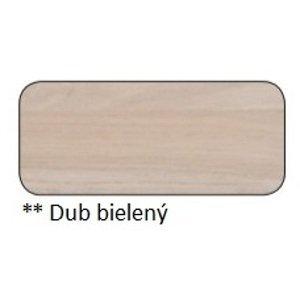 Drewmax Jedálenský stôl Metal ST373 / dub / doska 4 cm Farba: Dub bielený, Prevedenie: F 220 x 75 x 100 cm