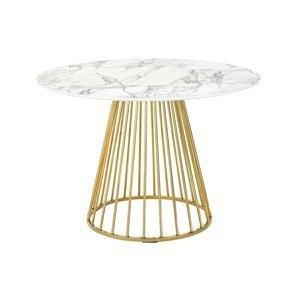ArtKing Stôl GLAM MARBLE 110 zlatý