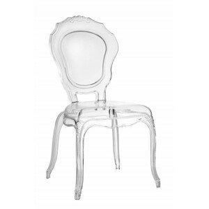 ArtD Jedálenská stolička Queen transparentná