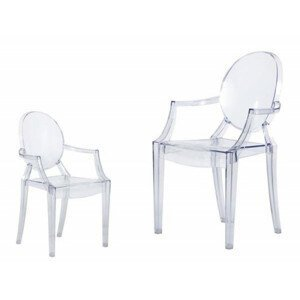 ArtD Detská stolička Mini Royal Junior inšpirovaná Louis Ghost transparentná