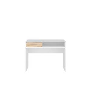 BRW Písací stolík: NEPO PLUS - BIU1S Farba: Biela/dub sonoma