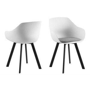 ArtD Jedálenská stolička Tina Black biela