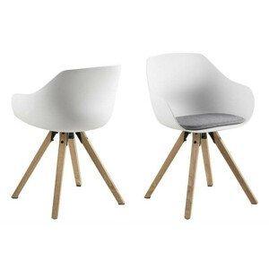 ArtD Jedálenská stolička Tina Wood biela