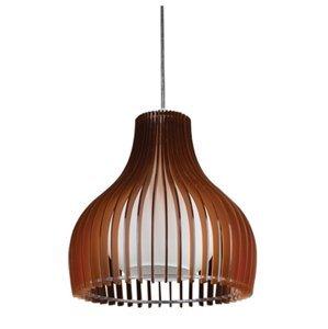 Závesný luster Lampex 327/1 BRA hnedá