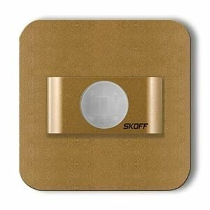 LED nástenné svietidlo Skoff Salsa mosadz teplá 230V MM-SAL-M-H s čidlom pohybu
