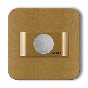 LED nástenné svietidlo Skoff Salsa mosadz neutr. 10V MJ-SAL-M-N s čidlom pohybu