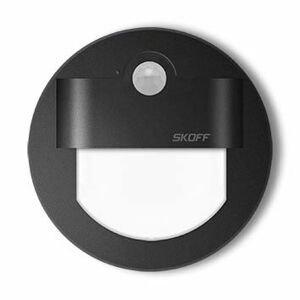 LED nástenné svietidlo Skoff Rueda čierna studená 10V MJ-RUE-D-W s čidlom pohybu