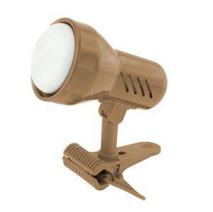 Lampička s klipom Sandria E14 matná mosadz