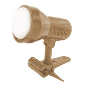 Lampička s klipom Sandria E27 matná mosadz