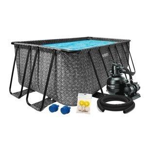 Bazén Florida Premium 2,15x4,00x1,22 m s pieskovou filtráciou a príslušenstvom - motív RATAN