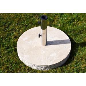 Stojan na slnečník z mramoru a ušľachtilej ocele, guľatý, 40 kg