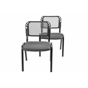 Sada stohovateľné kongresové stoličky 2 kusy - sivá