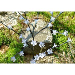 Záhradný kvetinový strom Garth s 36 LED diódami a solárnym panelom teplo biele LED diódy