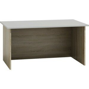 Písací stôl Standard dub sonoma/biela