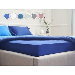 Posteľná plachta Essentials Dormeo, 180x200 cm, modrá