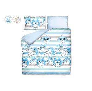 Posteľné obliečky s náladovými sovičkami Dormeo, 200x200 cm, modrá