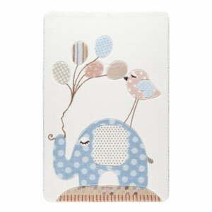 Detský svetlomodrý koberec Confetti Spotty Elephant, 133×190 cm