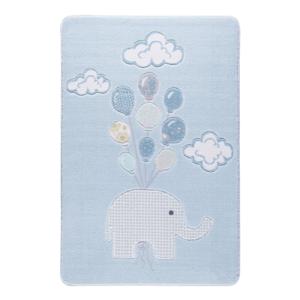 Detský svetlomodrý koberec Confetti Sweet Elephant Azul, 133×190 cm