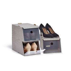 Sada 3 úložných boxov na topánky Domopak