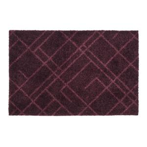 Tmavovínová rohožka Tica copenhagen Lines, 40×60 cm
