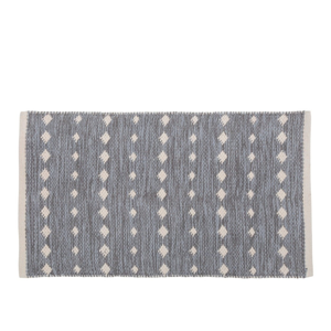 Sivý bavlnený koberec A Simple Mess Ank, 80×50 cm