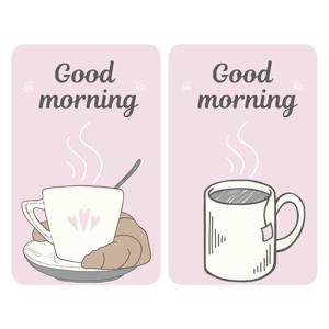 Sada 2 sklenených krytov na sporák Wenko Good Morning