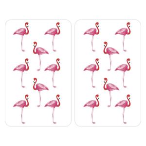 Sada 2 sklenených krytov na sporák Wenko Flamingo
