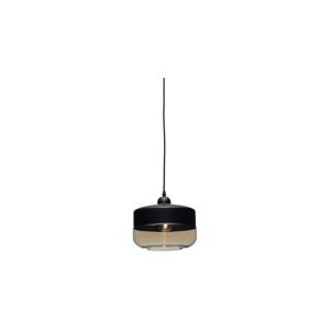 Čierne závesné svietidlo Design Twist Caracol Circle
