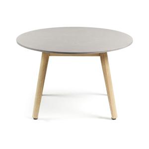 Jedálenský stôl so svetlosivou doskou La Forma Glow, Ø 65 cm