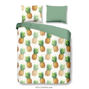 Obliečky na dvojlôžko z bavlny Good Morning Premento Ananas, 200 × 200 cm