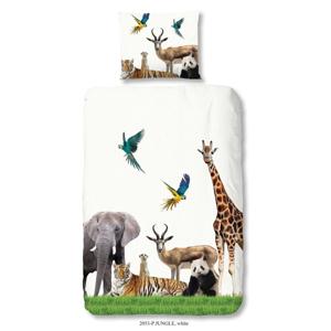 Detské bavlnené obliečky na jednolôžko Good Morning Jungle, 140 × 200 cm