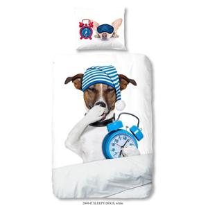 Detské obliečky na jednolôžko z čistej bavlny Muller Textiels Sleepy Dog, 140 × 200 cm