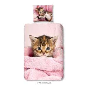 Detské obliečky na jednolôžko z bavlny Muller Textiels Good Morning Sweety, 140 × 200 cm