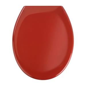 Červené WC sedadlo s jednoduchým zatváraním Wenko Premium Ottana, 45,2 × 37,6 cm