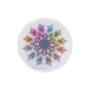 Farebná plážová osuška zo 100 % bavlny Sharma,⌀150 cm