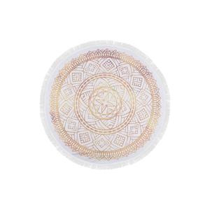 Farebná plážová osuška zo 100 % bavlny Dhabi, ⌀150 cm