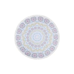 Farebná plážová osuška zo 100 % bavlny Buble,⌀150 cm