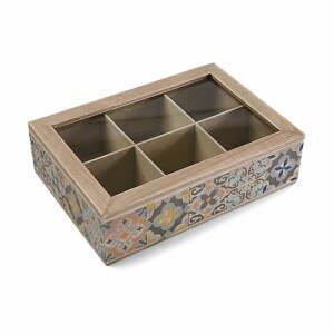Úložná škatuľka na čaje VERSA Alfama, 24×17cm