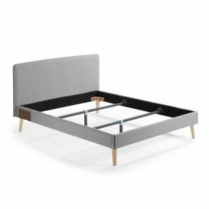 Sivá dvojlôžková posteľ La Forma Lydia, 160x200cm