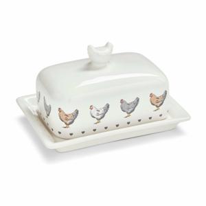 Dóza na maslo z glazovanej keramiky Cooksmart ® Farmers Kitchen